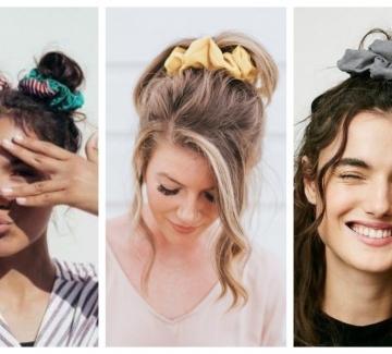 19 идеи как да носим модерния пухкав ластик за коса