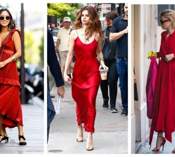 31 идеи как да носим червена макси рокля