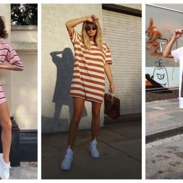 23 стайлинг идеи, в които носим тениската като рокля