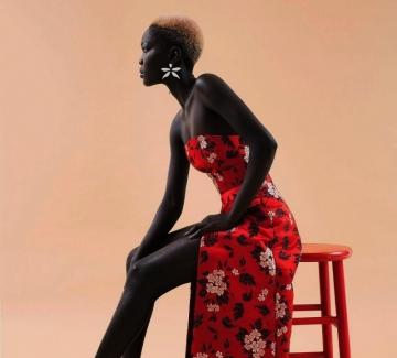"""""""Кралицата на мрака"""" – моделът с най-тъмната кожа в света"""