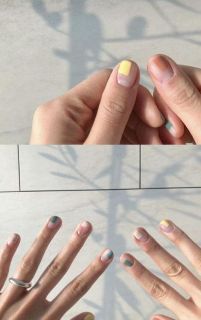 21 идеи за къс цветен маникюр
