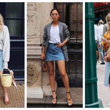 24 стайлинг идеи как да носим дънкова пола точно сега