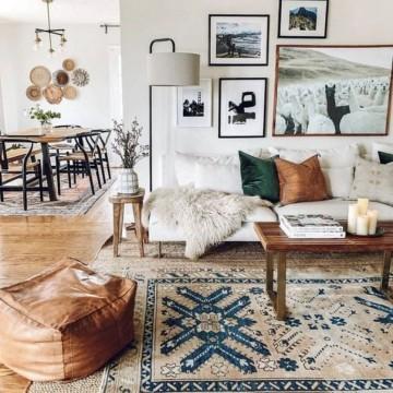 33 приложения на бохо килима у дома