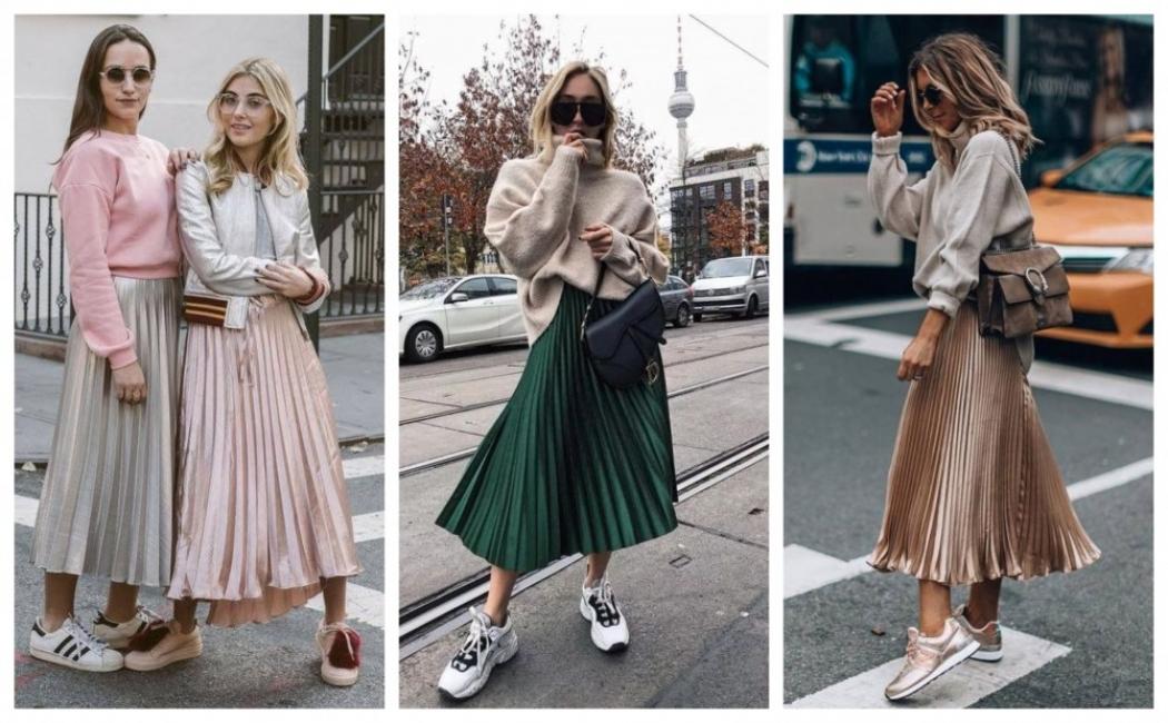 31 идеи как да носим плисираната миди пола и през есента