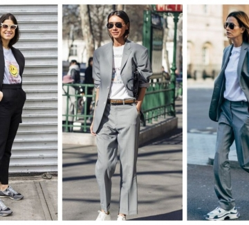 21 стайлинг идеи как да носим костюм с тишърт