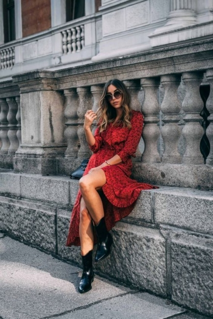 27 стайлинг идеи как да носим роклята с боти