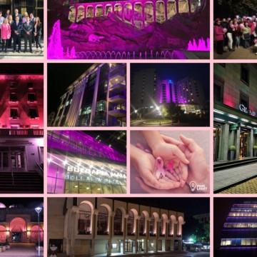 Десетки сгради светнаха в розово