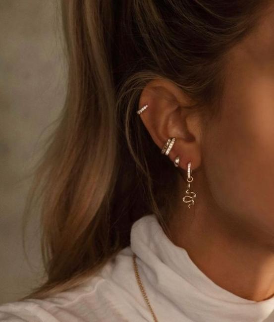 26 идеи за пиърсинг на ухото