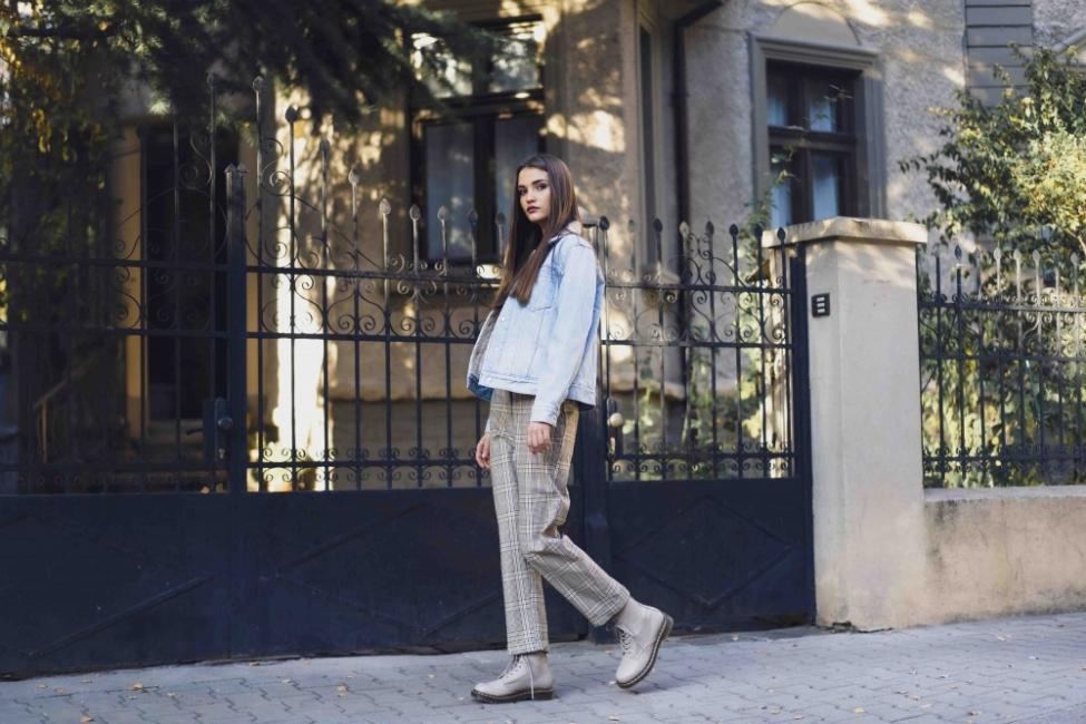 Днес носим: каре + леопардов принт