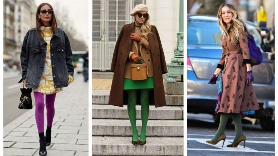 24 стайлинг идеи как да носим цветен чорапогащник
