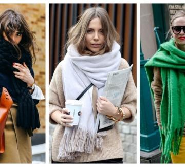 19 стайлинг идеи как да носим големите топли шалове