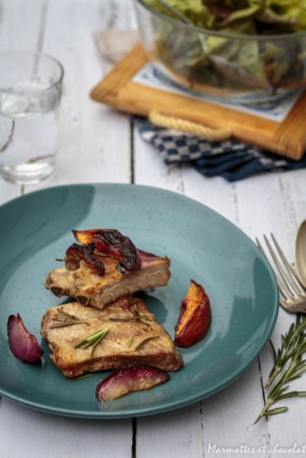 Вкусът на Франция: Свински ребра с нектарини