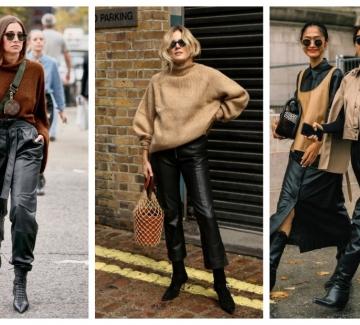 24 стайлинг идеи как да носим кожен панталон