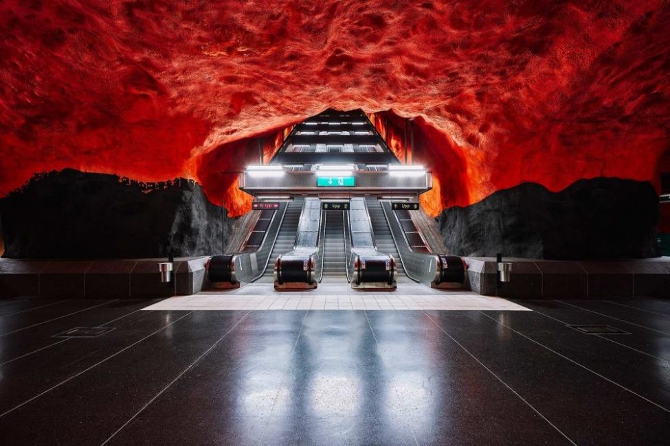 Метрото в Стокхолм: най-дългата художествена експозиция в света