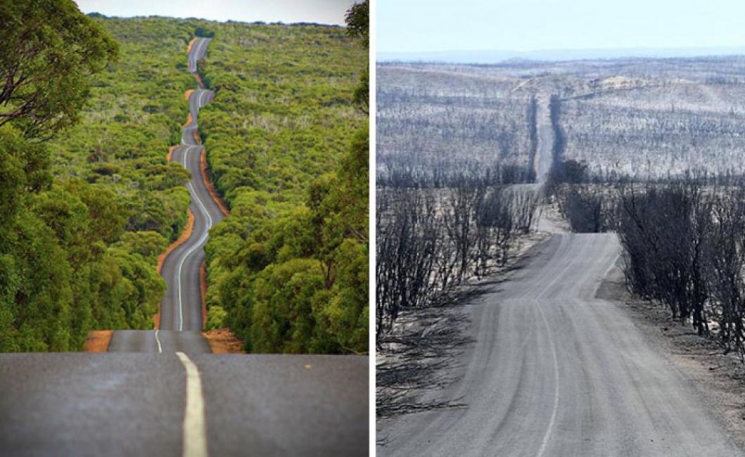 Австралия преди и сега: огромните щети в 19 кадъра