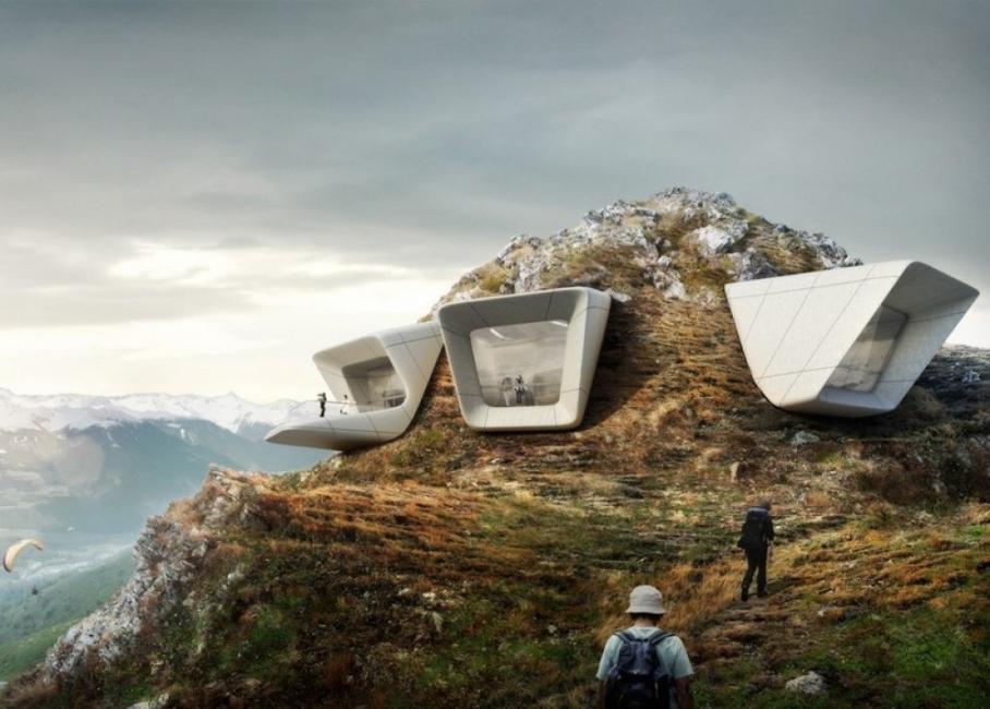 Музей с гледка към Алпите