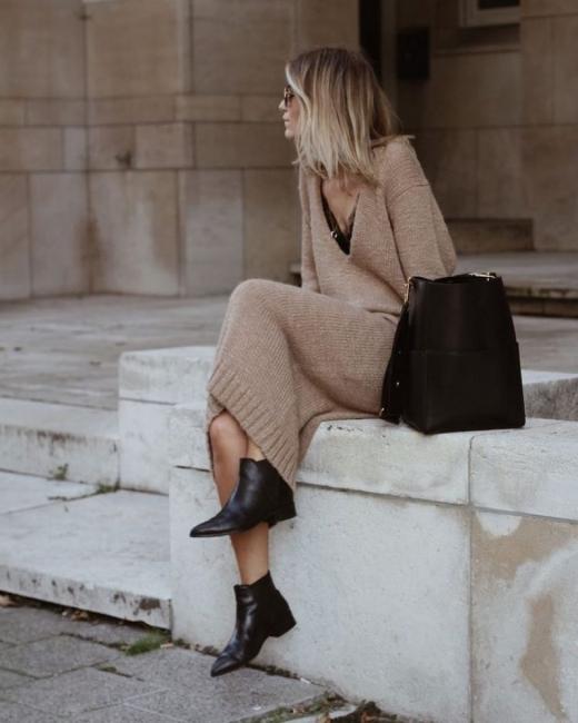 21 стайлинг идеи как да носим дълга плетена рокля
