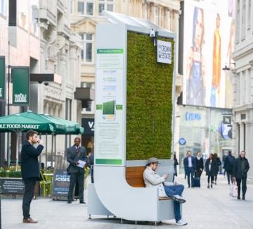 Зелените спирки на Лондон, които чистят въздуха