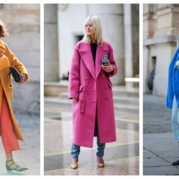 21 стайлинг идеи как да предизвикаме зимата с ярко палто