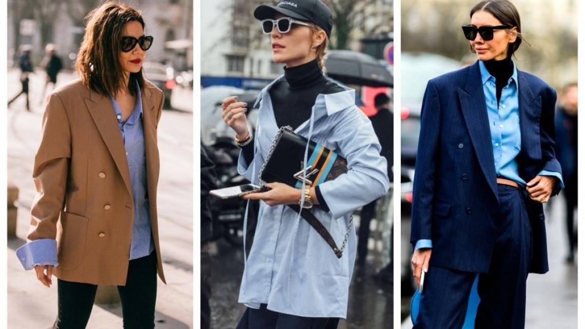 21 стайлинг идеи как да носим синята риза, без да изглежда твърде семпла