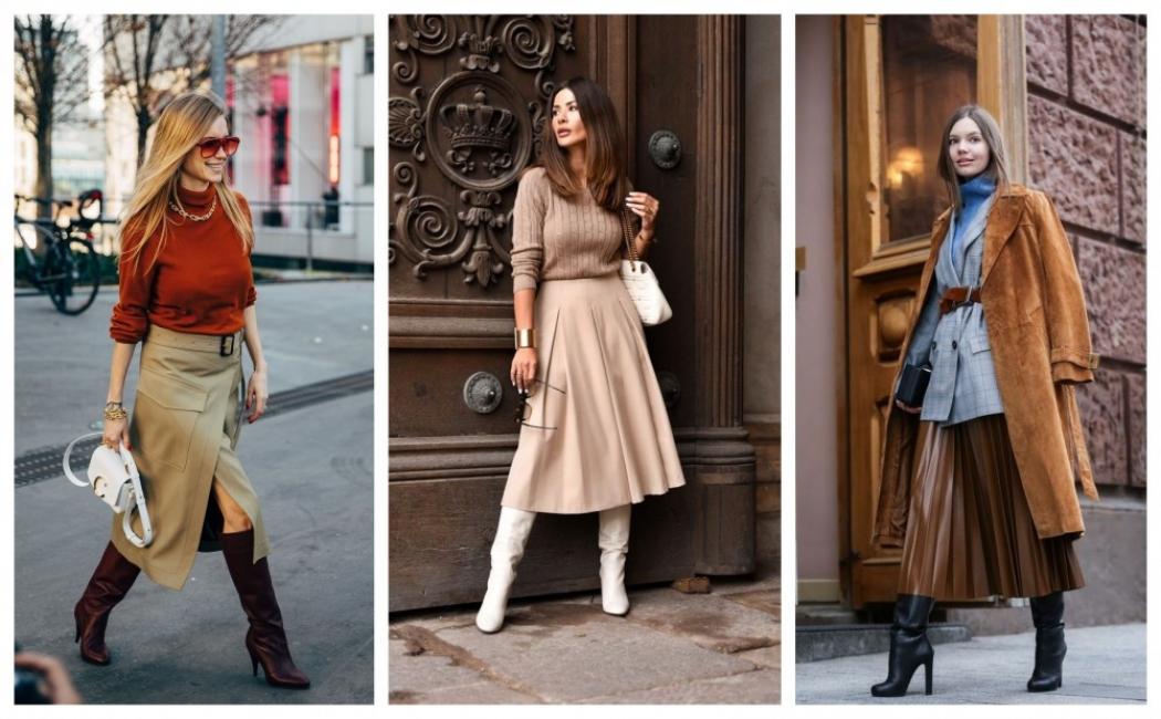 22 стайлинг идеи как да комбинирате пола с ботуши