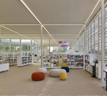 Библиотека, вдъхновена от гоблен