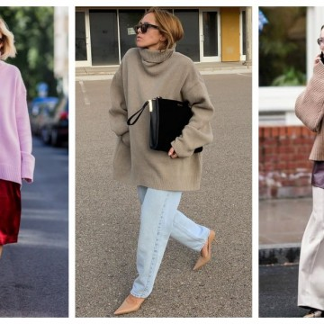 21 стайлинг идеи как да носим по-елегантно обемния пуловер