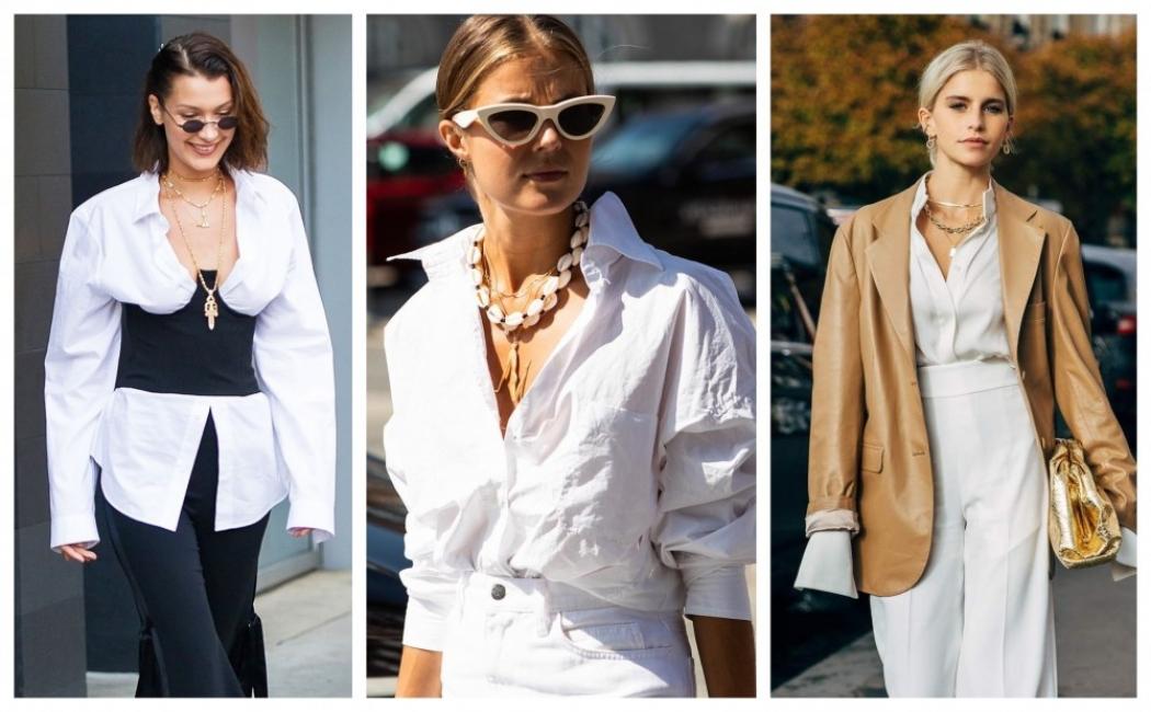 18 стайлинг идеи как да носим ризата в комбинация с колие