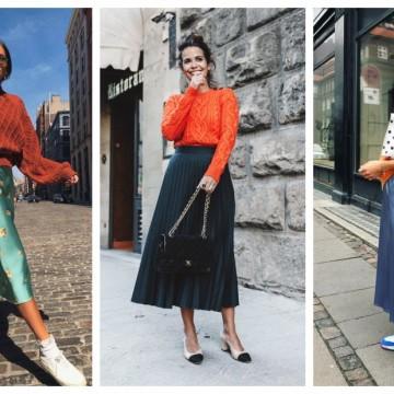 23 стайлинг идеи как да носим дълга пола с къс пуловер за по-издължен силует