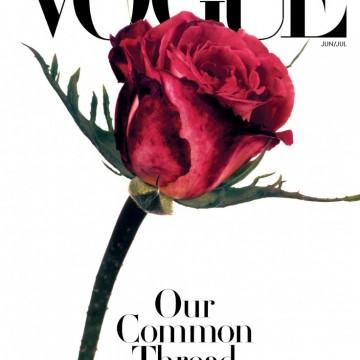Защо Vogue излезе с червена роза на корицата си?