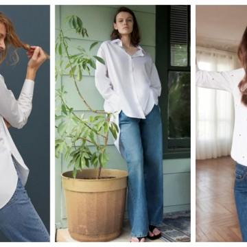 17 стайлинг идеи как да носим бяла риза с дънки