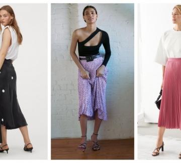 21 стайлинг идеи как да носим миди пола със сандали на ток