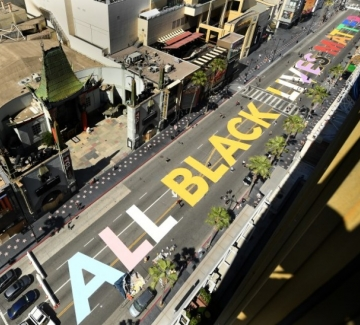 "All Black Lives Matter украси и бул. ""Холивуд"""