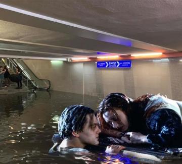 Софийското наводнение в колажи