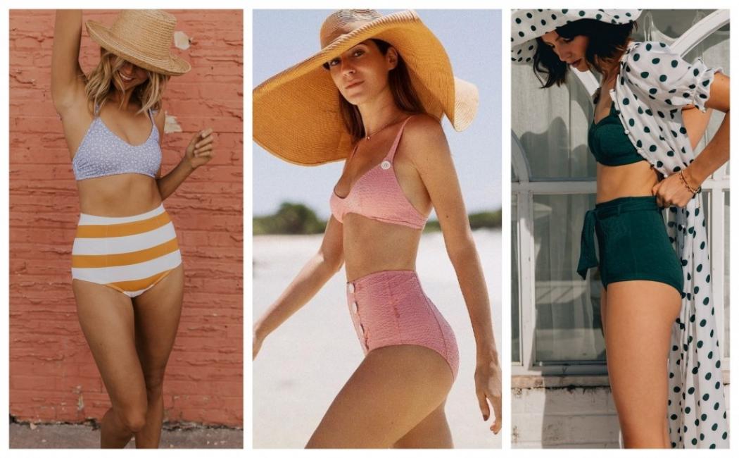24 идеи как да носим бански с висока талия това лято