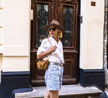 Как да носим любимата си бяла риза през лятото