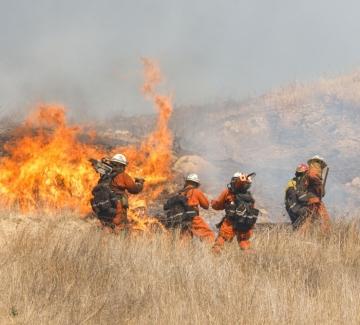 Мълнии обвиват Калифорния в пламъци