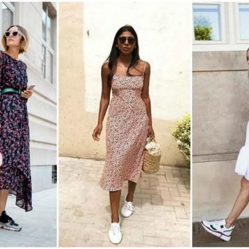 24 стайлинг идеи как да носим рокля с кецове по най-елегантния начин