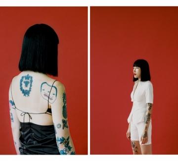Психеделичните татуировки на корейката Мики Ким