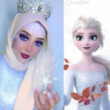 Как се става приказна героиня на Disney с малко грим и... един хиджаб?