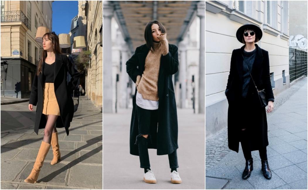 24 стайлинг идеи как да носим класическото черно палто